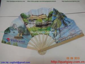 quạt giấy quảng cáo du lịch