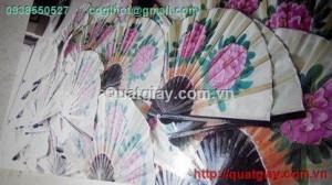 tranh quat ve hoa mau don korea